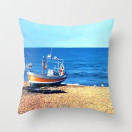 Grace on the Beach Throw Pillow
