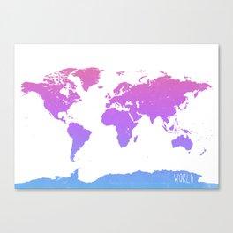 World map live Canvas Print