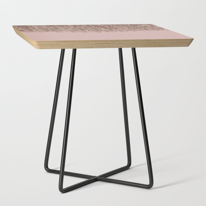 Blush_Pink_Rose_Gold_Bronze_Cascading_Glitter_Side_Table_by_Christyne__Black__Square