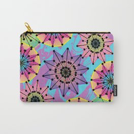 Vibrant Abstract Floral Pattern Carry-All Pouch