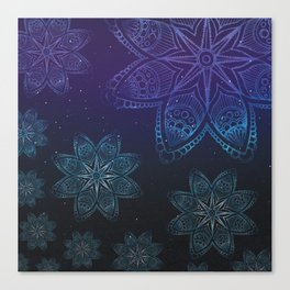 Blue night star sky Canvas Print