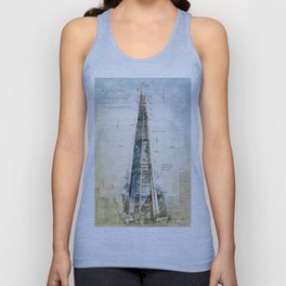 The Shard, London England Unisex Tank Top