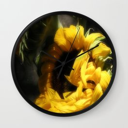 Flowers Of The Sun Wall Clock