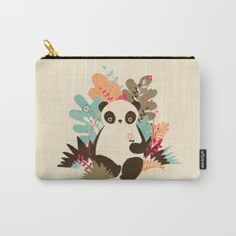 Flower Panda Carry-All Pouch