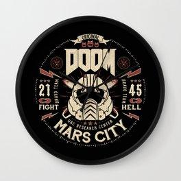 Doom - Fight Hell Wall Clock