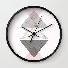 Triangle pattern modern geometric abstract Wall Clock