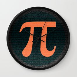 First 10,000 digits of Pi, blue and orange. Wall Clock