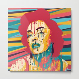 Marylin Psychedelic Metal Print
