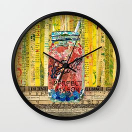 Sangria mason Jar Wall Clock