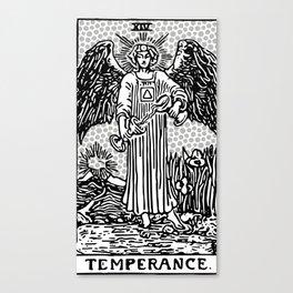 Modern Tarot Design - 14 Temperance Canvas Print