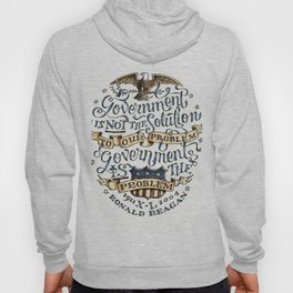 small government, larger freedom Hoody