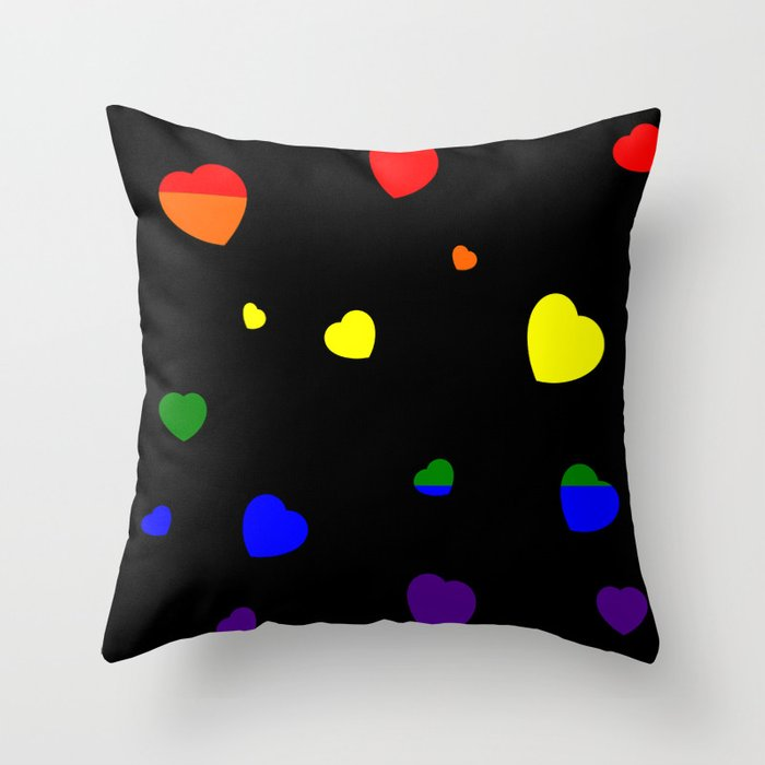 Chaotic Hearts, Pride Flag Series: LGBT Throw Pillow