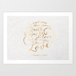 Faith, Hope & Love Art Print