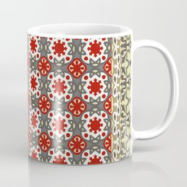 V12 Red Traditional Moroccan Rug Pattern. Coffee Mug