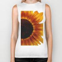 sunflower Biker Tanks featuring Sunflower5 by Regan's World