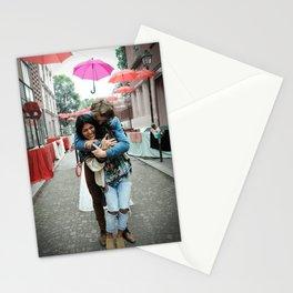 Parisian Mugshots - Singing in the Rain (Gueules de Parisiens) Stationery Cards