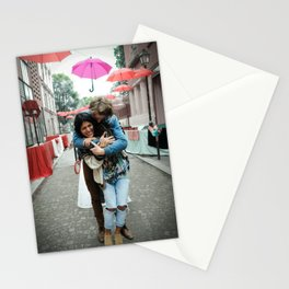 Parisian Mugshots - Singing in the Rain (Gueules de Parisiens) Stationery Cards