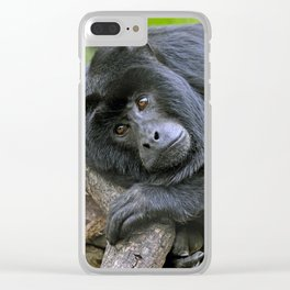 Howler Monkey Clear iPhone Case