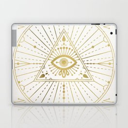 All-Seeing Eye Mandala – Gold Palette Laptop & iPad Skin