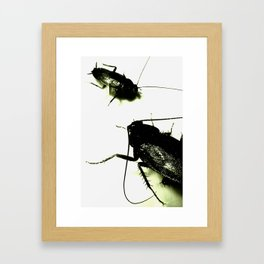 Evil Toxic Cockroaches Framed Art Print