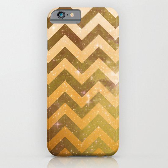 Golden Space Chevron iPhone & iPod Case