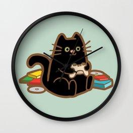Gamer Cat Wall Clock
