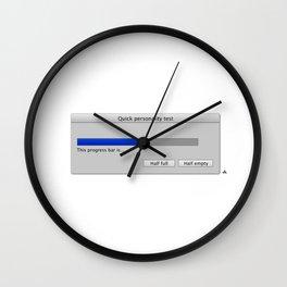 Work in progress bar #4 Wall Clock