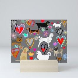 Poodles Labradors dachshunds samoyeds and more!  Mini Art Print