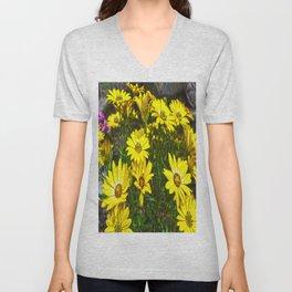 daisys flowers Unisex V-Neck