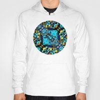technology Hoodies featuring Blue Technology Abstract by Phil Perkins