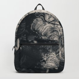 Hornet Hive. Black and White Photograph Backpack