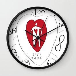 love twice Wall Clock