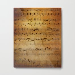 Yesterday's Music Metal Print