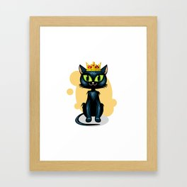 Royal cat Framed Art Print