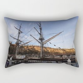 Ship Docked at the Marina Rectangular Pillow