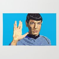 spock Area & Throw Rugs featuring Spock by Connor Corbett