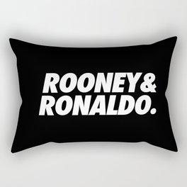 MUFC duo_ ROONEY & RONALDO Rectangular Pillow
