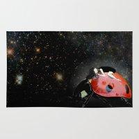 ladybug Area & Throw Rugs featuring LADYBUG by auntikatar