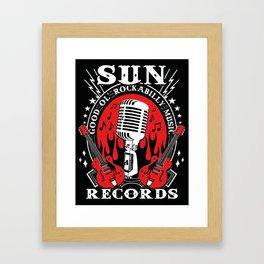 SUN RECORDS Framed Art Print