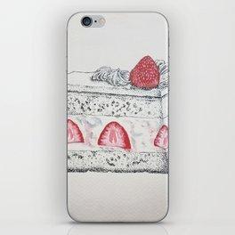 Strawberry Cake -- Painstaking Pastry iPhone Skin