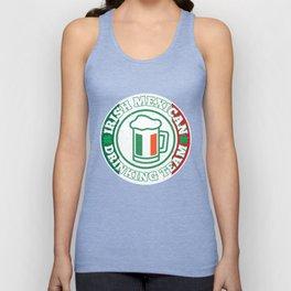 Irish Mexican Drinking Team Mexico Flag St. Patty's Unisex Tank Top