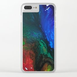 Rainbow Juxtaposition Clear iPhone Case