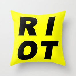 RIOT (BLACK AND YELLOW) Throw Pillow