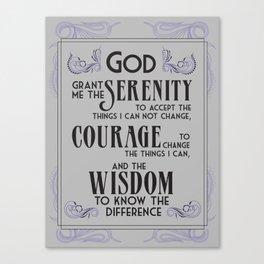 Serenity Prayer Lt Blue Canvas Print