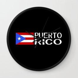 Puerto Rico: Puerto Rican Flag & Puerto Rico Wall Clock