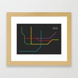 busan metro map Framed Art Print