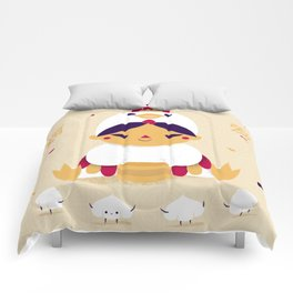 Red Rooster and Dumplings Comforters