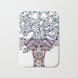 Indian Elephant Tree Of Life Bath Mat