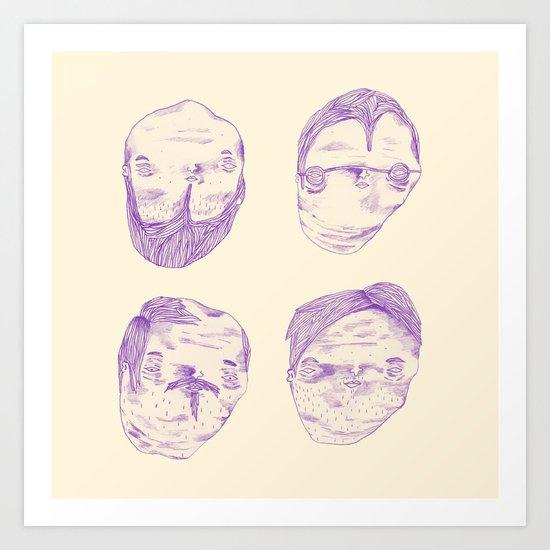 Purple Heads  Art Print
