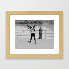 Skater at Lake Jabi by David Emeka Kalu ® Framed Art Print